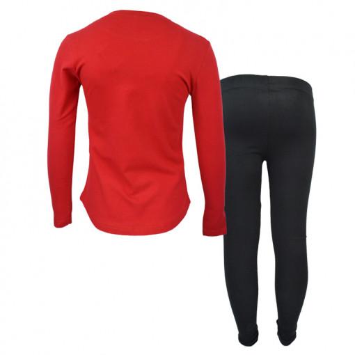 """Σετ μακρυμάνικη μπλούζα κόκκινη με κολάν μαύρο """"The Art of Fashion"""" πίσω μέρος"""