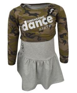 """Σετ μακρυμάνικη μπλούζα με αμάνικο φόρεμα """"Dimensione Dance"""" μαζί"""