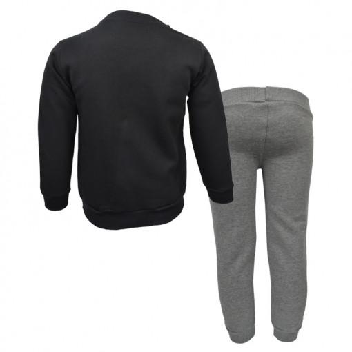 """Σετ μαύρη μακρυμάνικη μπλούζα με γκι φόρμα παντελόνι """"Joyce the Cool"""" πίσω μέρος"""