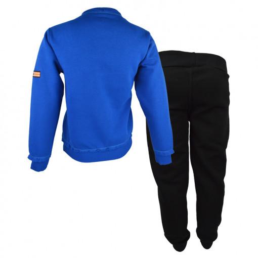 """Σετ μπλε μακρυμάνικη μπλούζα με μαύρη φόρμα παντελόνι """"Turn Up the Noise"""" πίσω μέρος"""