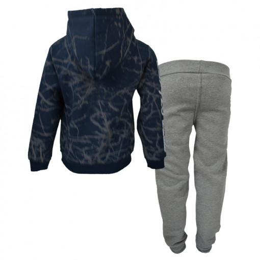"""Σετ μπλε σκούρα μακρυμάνικη μπλούζα με γκρι φόρμα παντελόνι """"Air Force"""" πίσω μέρος"""