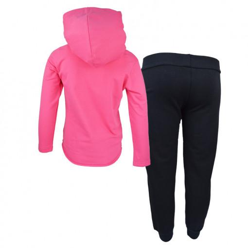 """Σετ ροζ μακρυμάνικη μπλούζα με φόρμα παντελόνι """"Patches"""" πίσω μέρος"""