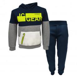 """Σετ σκούρη μπλε μακρυμάνικη μπλούζα με κουκούλα και σκούρα μπλε φόρμα παντελόνι """"JC Gear"""""""