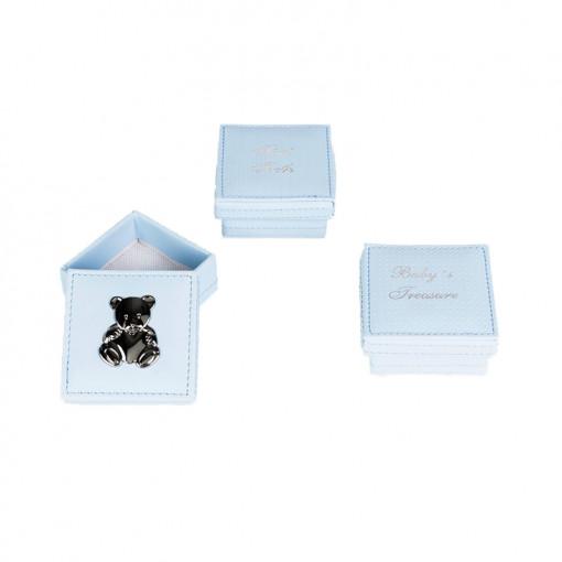 Σετ τρία κουτιά γαλάζια για αντικείμενα απλωμένα