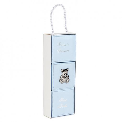 Σετ τρία κουτιά γαλάζια για αντικείμενα