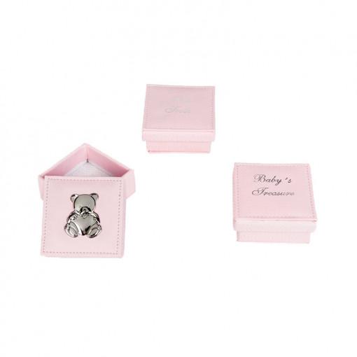 Σετ τρία κουτιά ροζ για αντικείμενα απλωμένα