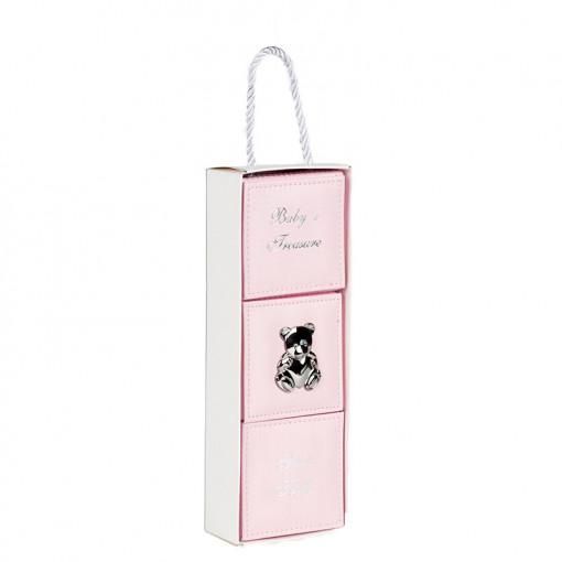 Σετ τρία κουτιά ροζ για αντικείμενα