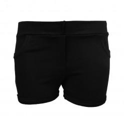 Σορτσάκι μαύρο απλό με ψεύτικες τσέπες