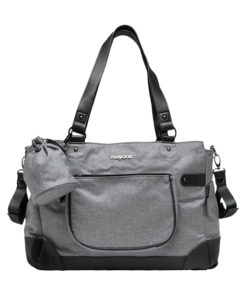 Τσάντα γκρι με αξεσουάρ