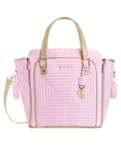Τσάντα ροζ από πολυδερματίνη με επένδυση πίσω μέρος