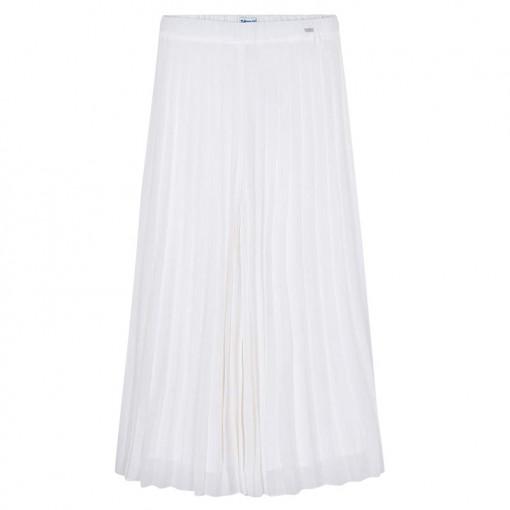 Φούστα παντελόνι λευκή πλισέ