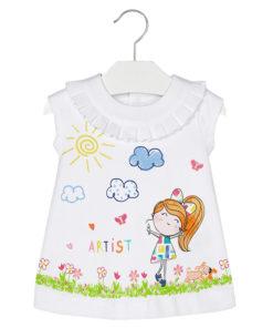 """Φόρεμα άσπρο μακό """"Artist"""""""