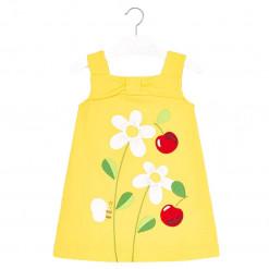 """Φόρεμα αμάνικο κίτρινο """"Κεράσια"""""""