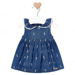 """Φόρεμα αμάνικο μπλε """"Καμηλοπάρδαλη"""""""