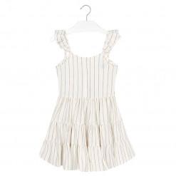 Φόρεμα εκρού με τιράντες με φιόγκο στο πίσω μέρος
