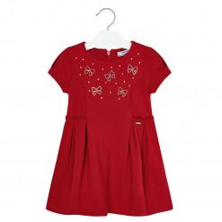 """Φόρεμα κόκκινο μακό """"Φιογκάκια"""""""