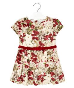 """Φόρεμα κόκκινο """"Λουλούδια"""""""