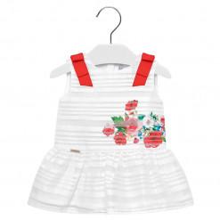 """Φόρεμα λευκό αμάνικο """"Λουλούδια"""""""
