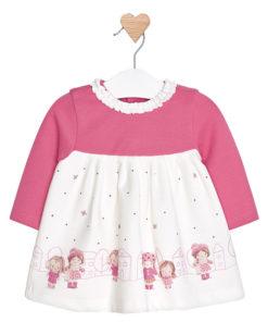 """Φόρεμα μακό ροζ """"Κοριτσάκια"""""""