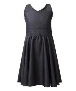 Φόρεμα μαύρο με τιραντάκι και μπαντάνα