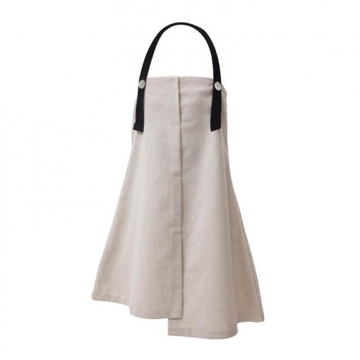 Φόρεμα μπεζ απλό μακρύ και κορδέλα για τα μαλλιά