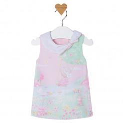 """Φόρεμα ροζ αμάνικο """"Κούνια"""""""