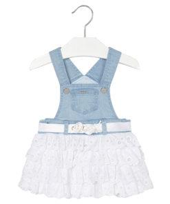 Φόρεμα σαλοπέτα τιζν - φούστα με βολάν