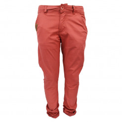 "Kόκκινο παντελόνι μακρύ με κουμπί και φερμουάρ ""Funky Collection"""