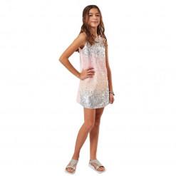 """Φόρεμα με παγιέτες και τσαντάκι """"Pink and Grey"""""""