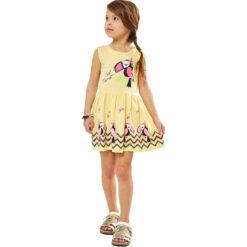 """Φόρεμα αμάνικο με τύπωμακαι παγιέτες """"Cool Parrot"""""""