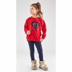 """Σετ μακρυμάνικη μπλούζα με παγιέτες με κολάν """"My Heart is in London"""""""