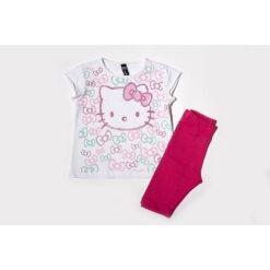 """Σετ κοντομάνικη μπλούζα με κολάν """"Little Kitty"""""""