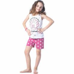 """Πιτζάμα με κοντομάνικη μπλούζα και σορτσάκι """"Shell phone"""""""