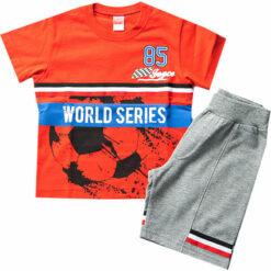 """Σετ κοντομάνικη μπλούζα με βερμούδα """"World Series"""""""