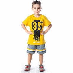 """Σετ κοντομάνικη μπλούζα με βερμούδα """"85"""""""
