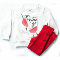 """Σετ μακρυμάνικη μπλούζα με κολάν χοντρό """"Ballet Dance"""""""