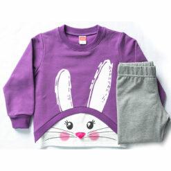 """Σετ μακρυμάνικη μπλούζα με κολάν χοντρό """"Bunny Face"""""""