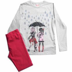 """Σετ μακρυμάνικη μπλούζα με κολάν """"It's Raining"""""""