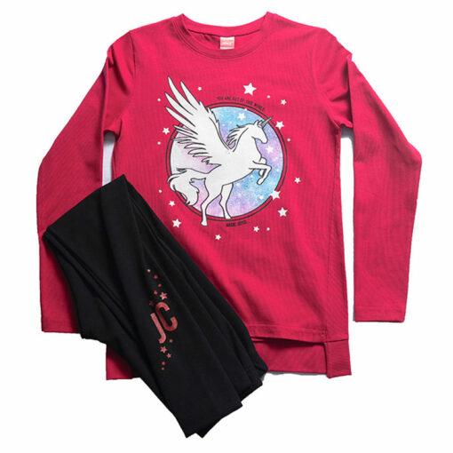 """Σετ μακρυμάνικη μπλούζα με κολάν """"Magic Unicorn"""""""