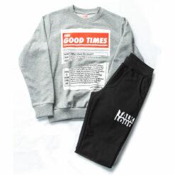 """Σετ μπλούζα φούτερ λεπτή με φόρμα παντελόνι """"The Good Times"""""""