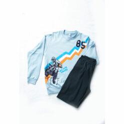 """Πιτζάμα μακρυμάνικη μπλούζα με παντελόνι """"Live your Dreams"""""""