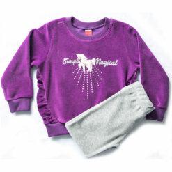 """Σετ βελουτέ μακρυμάνικη μπλούζα με φόρμα παντελόνι """"Simply Magical"""""""