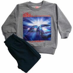 """Σετ μπλούζα φούτερ λεπτή με φωτάκια με φόρμα παντελόνι """"Car Lights"""""""