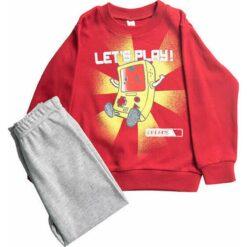 """Σετ πιτζάμες μ/μ μπλούζα και παντελόνι """"Let's Play"""""""