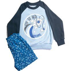 """Σετ πιτζάμες με μ/μ μπλούζα και παντελόνι """"Fly to Bed"""""""