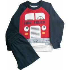 """Πιτζάμες με μακρυμάνικη μπλούζα και παντελόνι """"Fire Truck"""""""