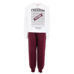 """Σετ μακρυμάνικη μπλούζα με φόρμα παντελόνι """"Freedom"""""""