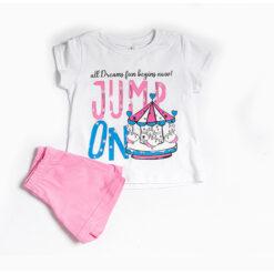 """Σετ πιτζάμες με  κοντομάνικη μπλούζα και σορτσάκι """"Jump On"""