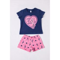 Σετ πιτζάμες με κοντομάνικη μπλούζα και σορτσάκι Flamingo Dreams