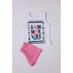 """Σετ πιτζάμες με αμάνικη μπλούζα και σορτσάκι """"Summer Vibe Dream"""""""